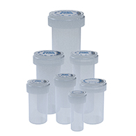 Clear reversible cap vials