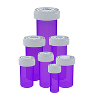 Purple reversible cap vials