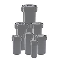 Silver reversible cap vials