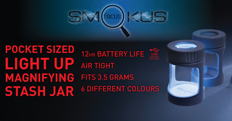 led display jars for Cannabis