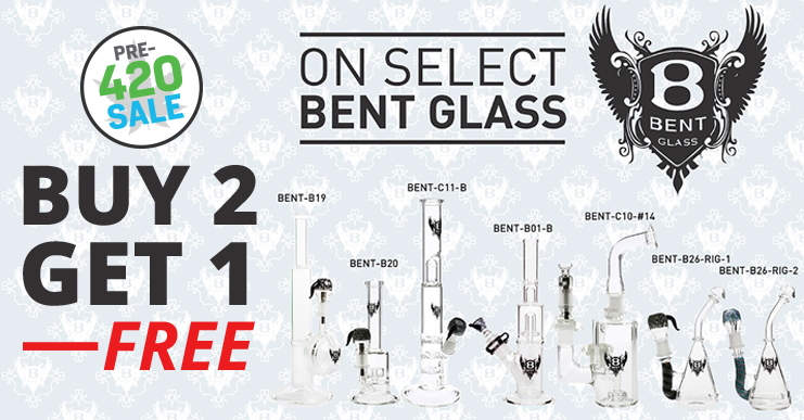 Bent Glass Bongs, Dab Rigs on Sale