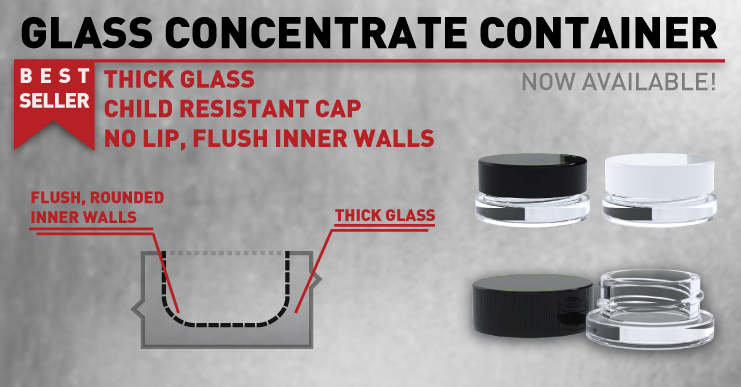 Sell your cannabis concentrates in these glass jars make your cannabis brand stand out