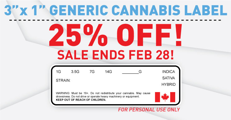 Cannabis Labels on Sale