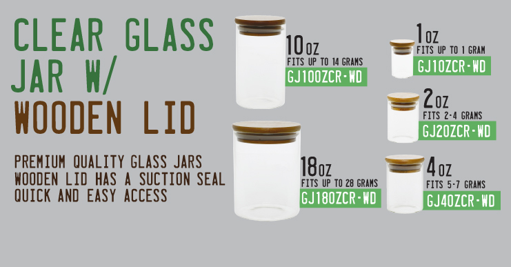 Glass Jars with Wooden Lid