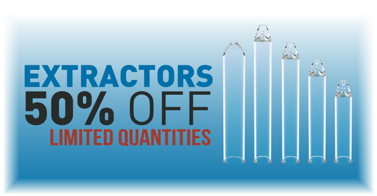 All extractors half price sale limited time
