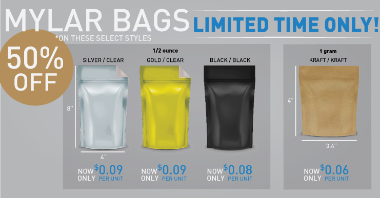 Pinnacle Distributors Mylar Bag Sale