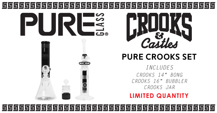 Pure Glass Crooks & Castles Bong Set