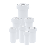 White reversible cap vials