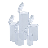 Marijuana packaging and dispensary supply Clear Pop Top Bottles