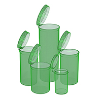 Marijuana packaging and dispensary supply Green Pop Top Bottles