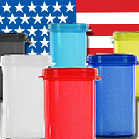USA Made Hinged Lid Bottles perfect for marijuana dispensarys